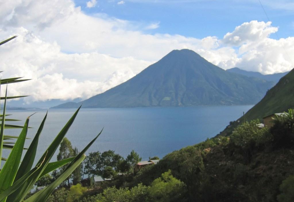 View of Lake Atitlan in Guatemala.