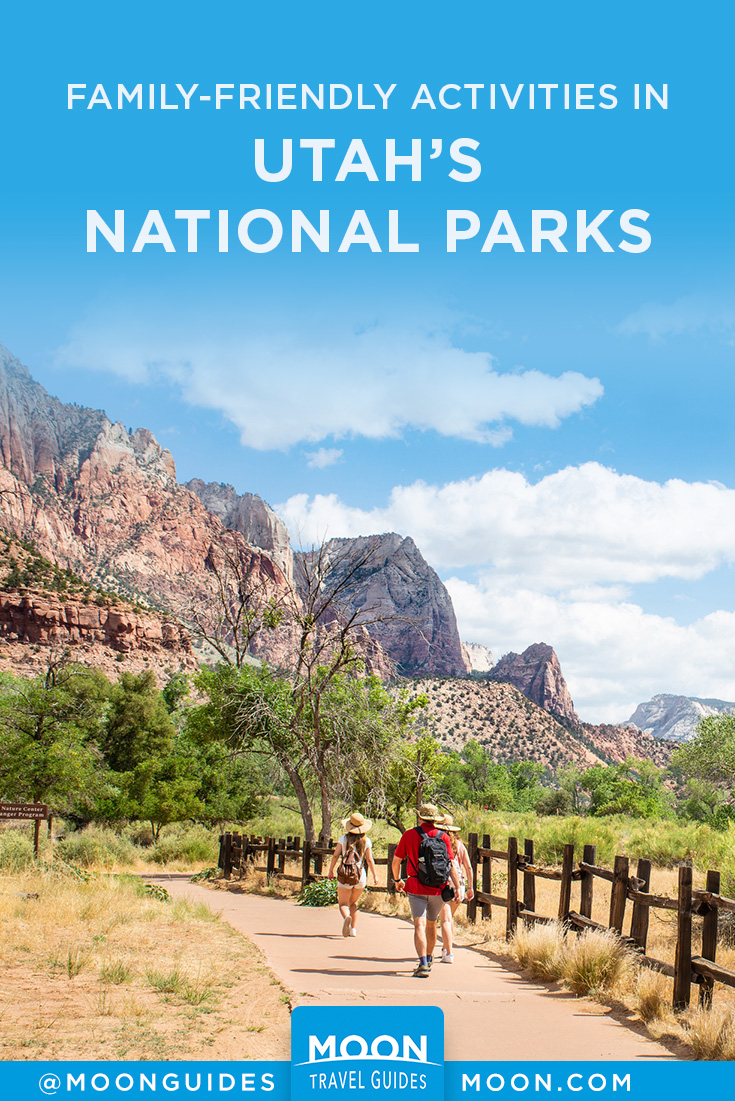 Utah National Parks with Kids Pinterest graphic