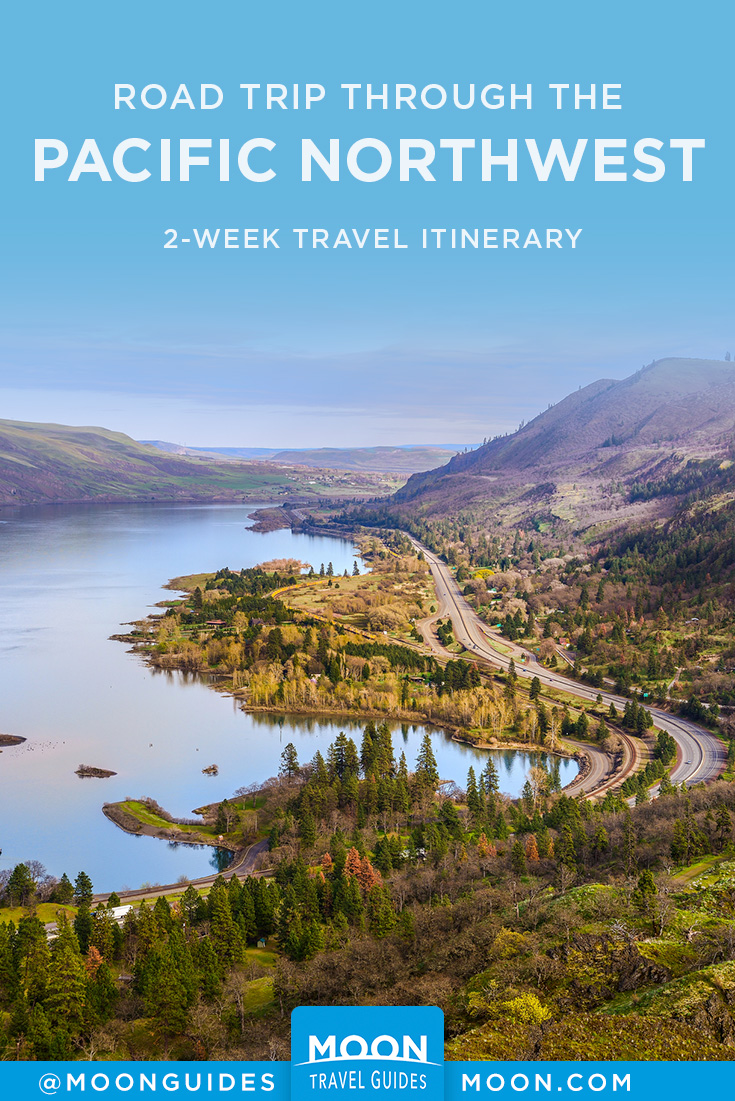 Pacific Northwest Road Trip Itinerary Pinterest graphic