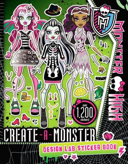 Monster high create a monster design lab sticker book