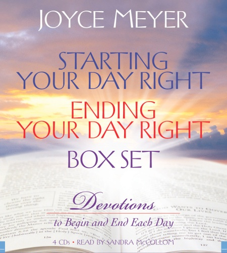 starting your day right ending your day right box set by joyce meyer hachette book group. Black Bedroom Furniture Sets. Home Design Ideas