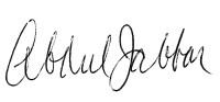 Kareem Abdul-Jabbar signature