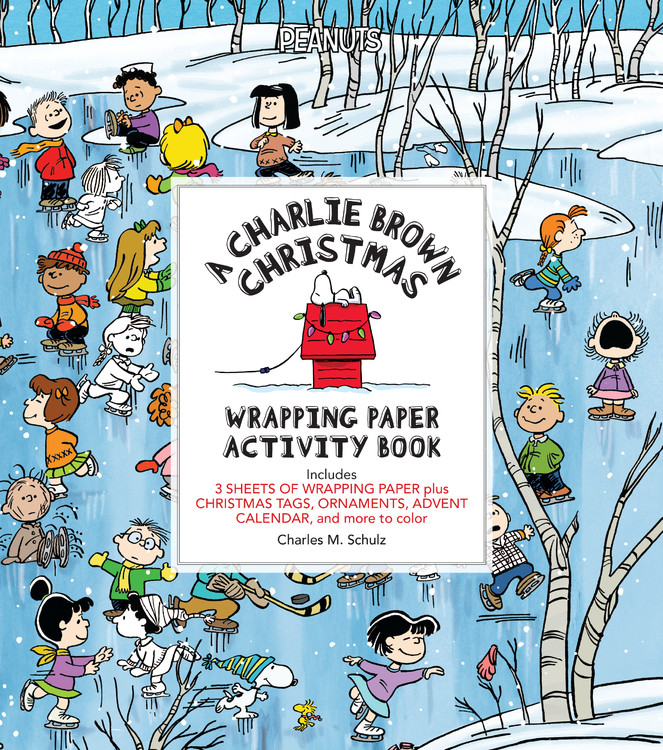 A Charlie Brown Christmas Book.A Charlie Brown Christmas Wrapping Paper Activity Book