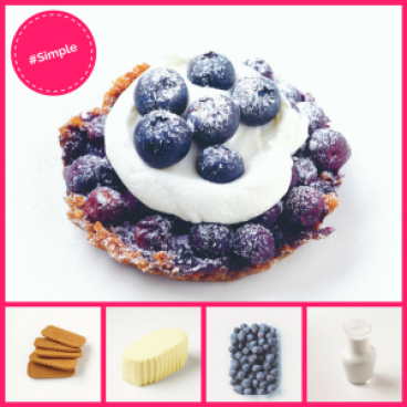 Simple Dessert Blueberry Tart