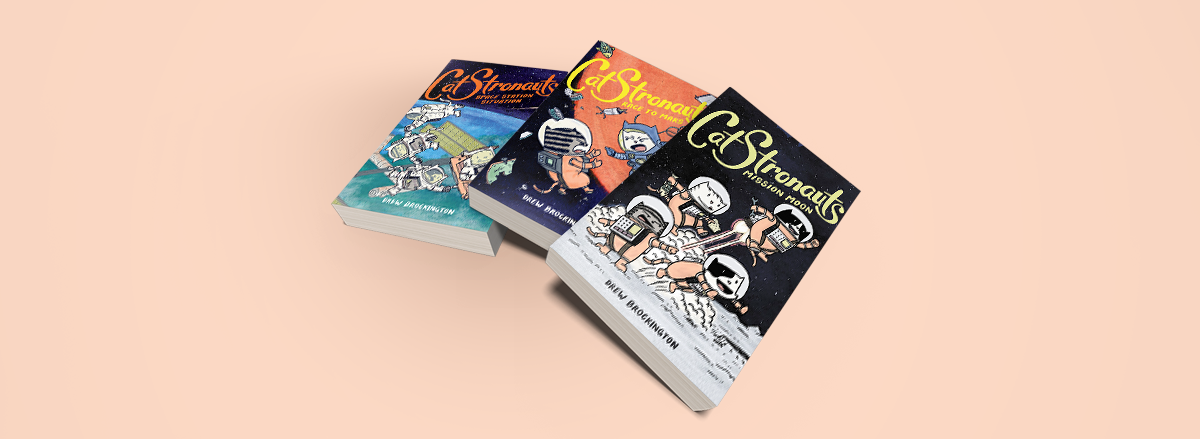 In Post Image for Reading Graphic Novels with Kids Catstronauts
