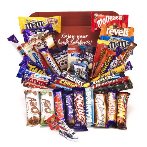 variety of british candy bars