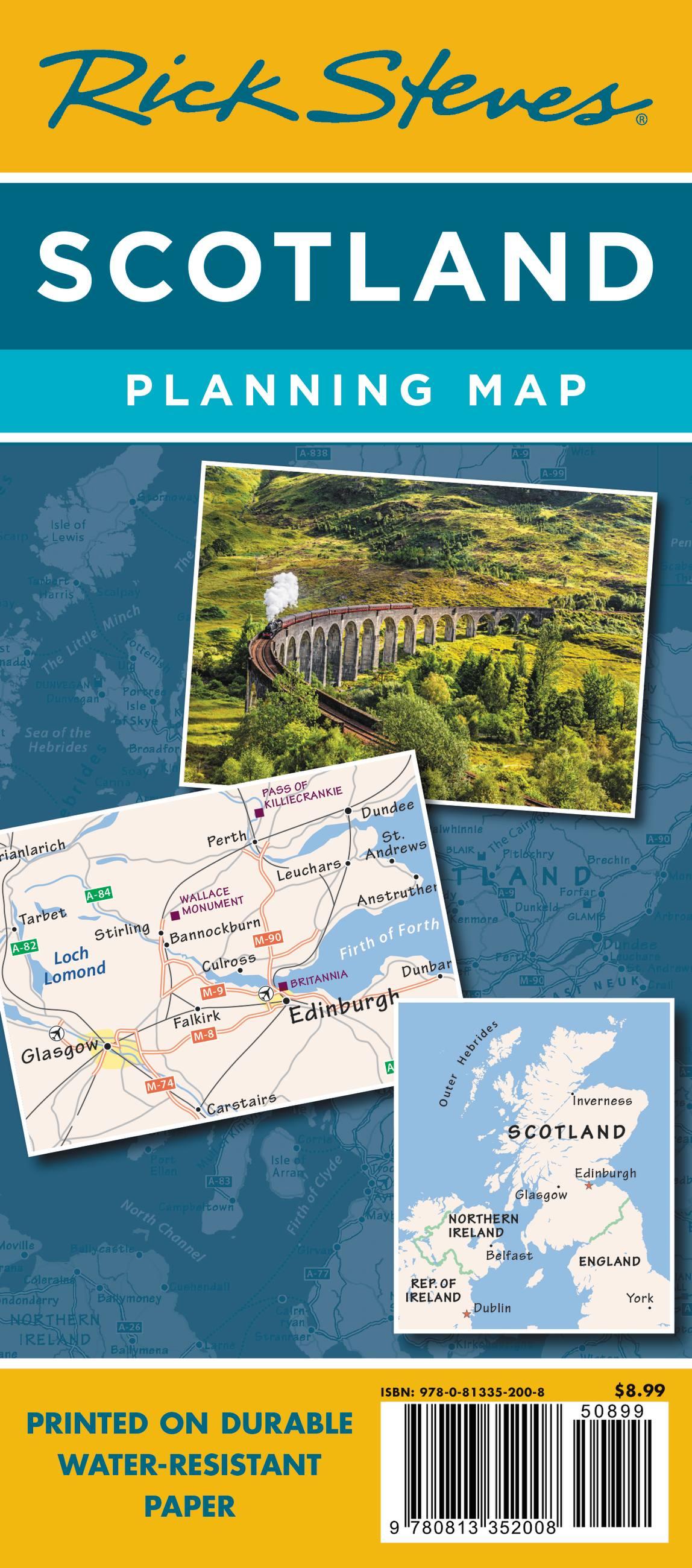 Rick Steves Scotland Planning Map by Rick Steves ...