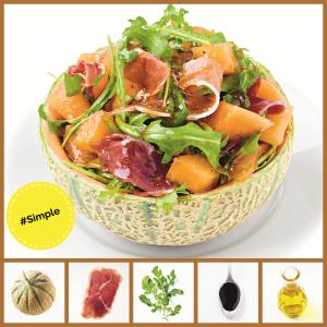 Simple 2 recipe Melon & Prosciutto Salas