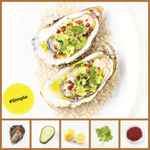 Simple2 recipe Oysters Avocado