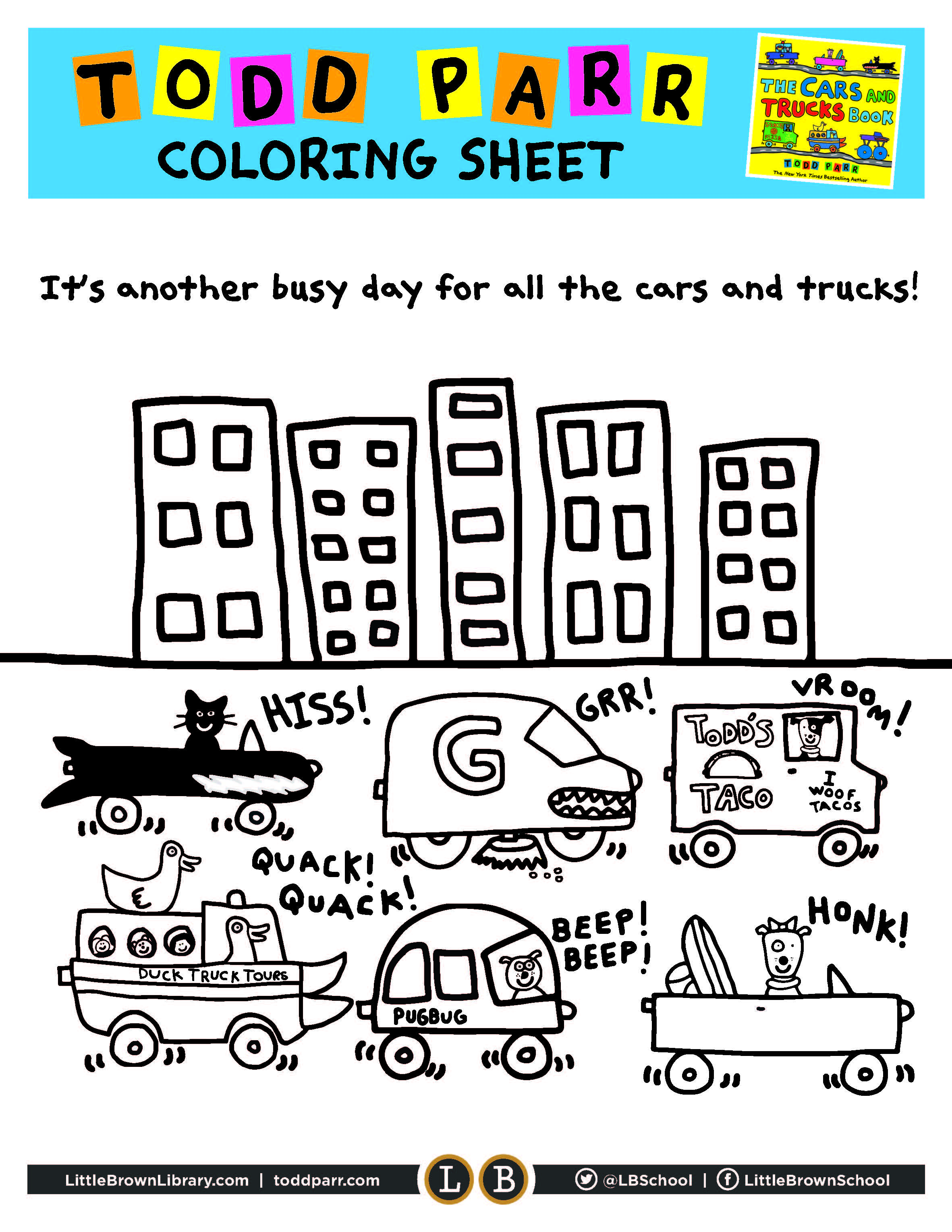 Cars and Trucks Coloring Page