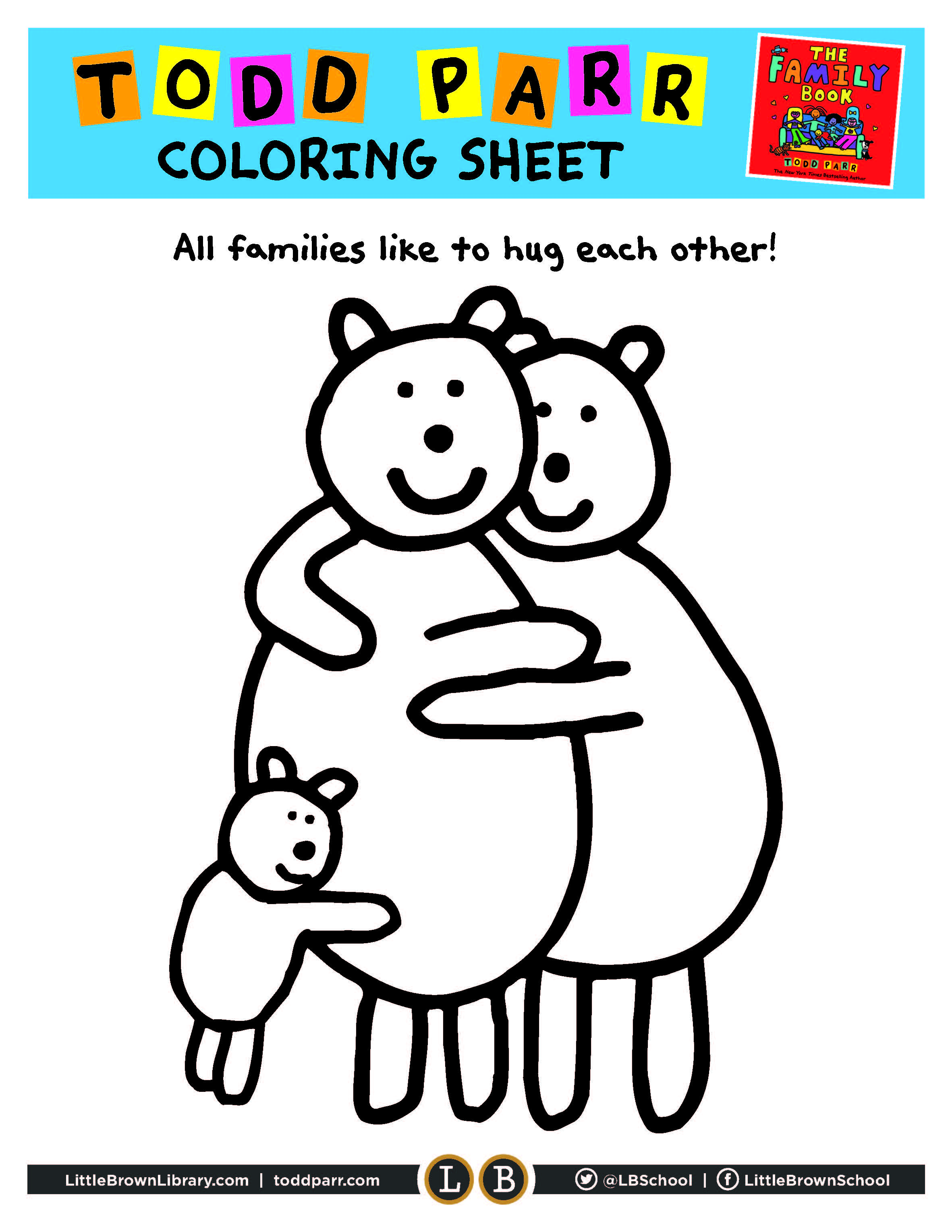 Family Book Coloring Page