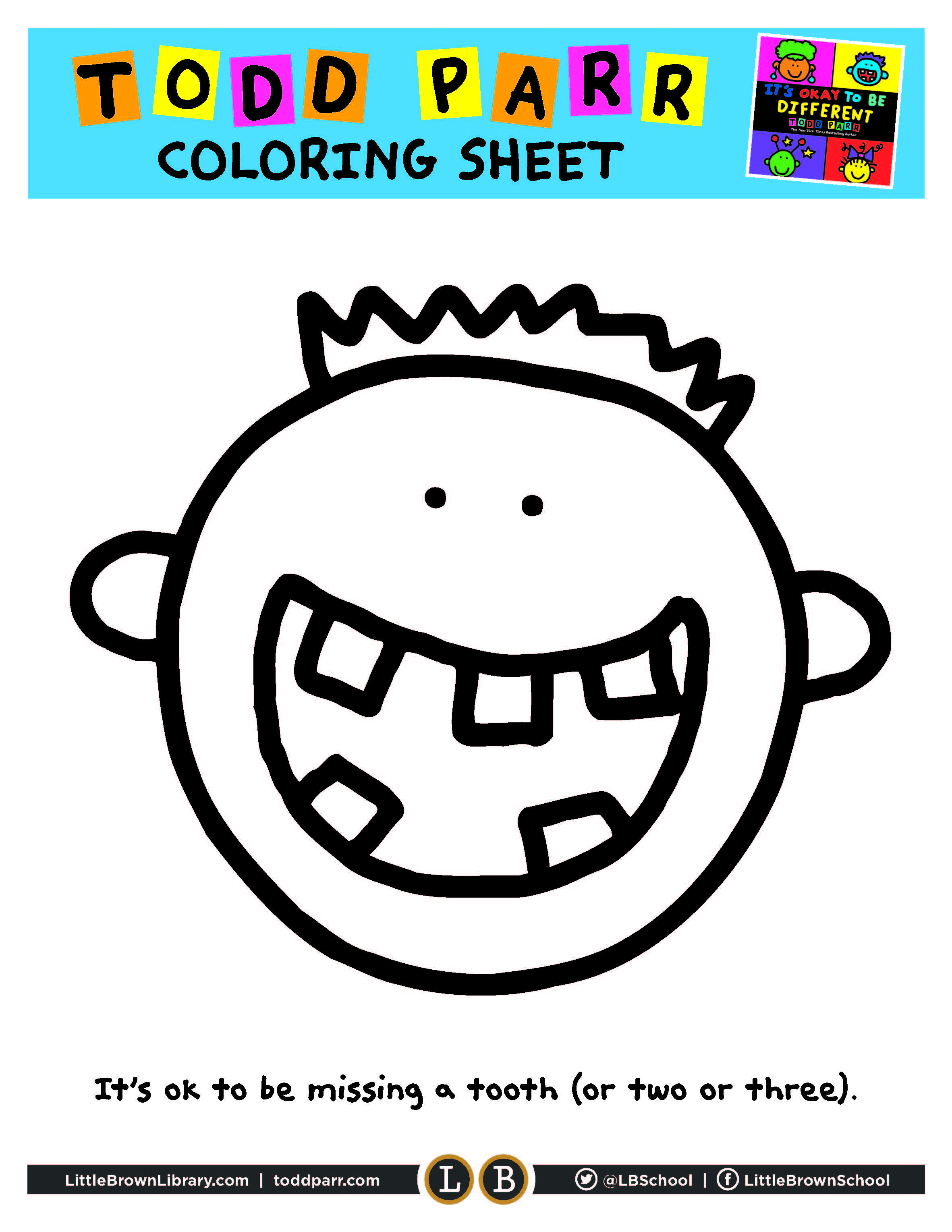 it's Okay to be Different Coloring Page