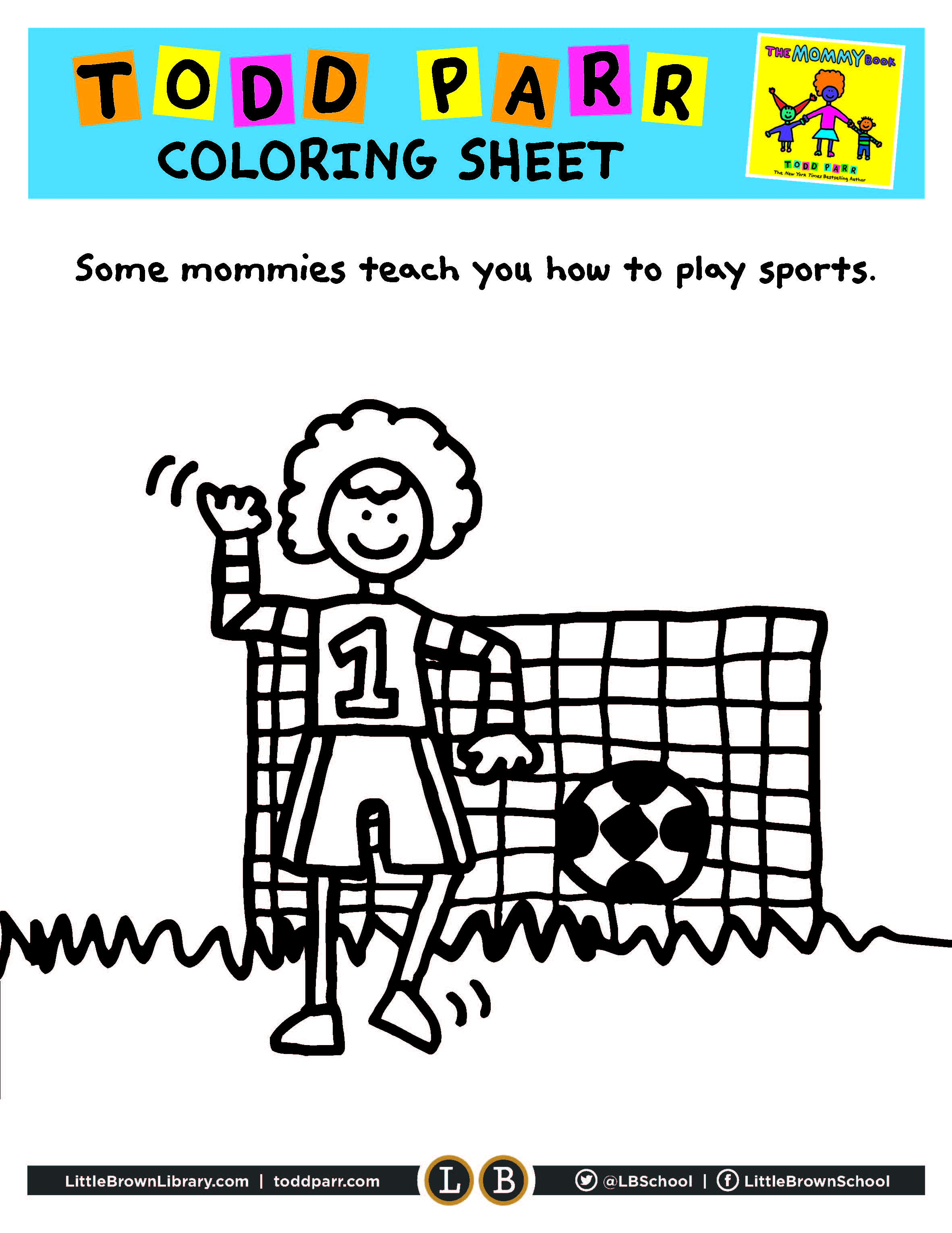 Mommy Coloring Page