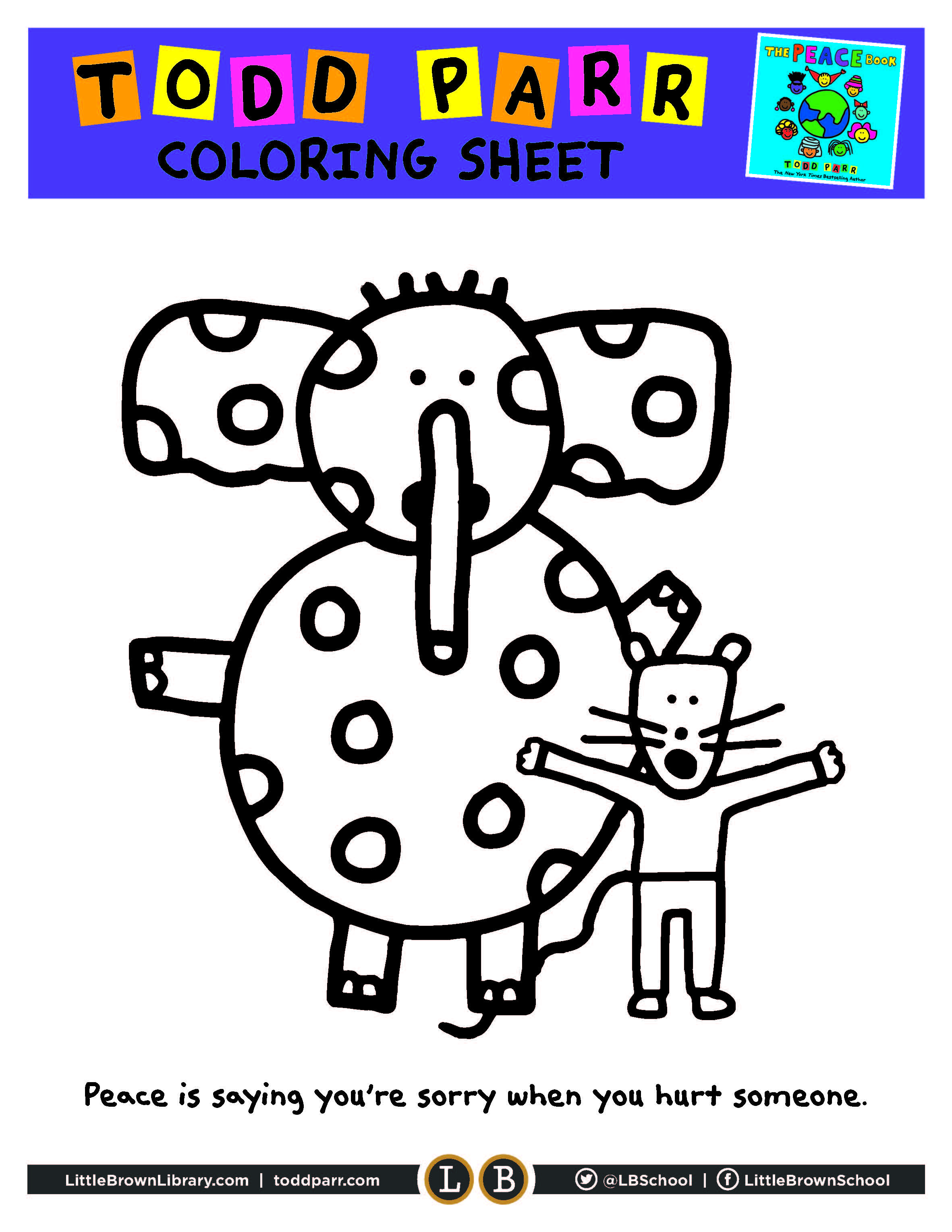 Peace Book Coloring Page