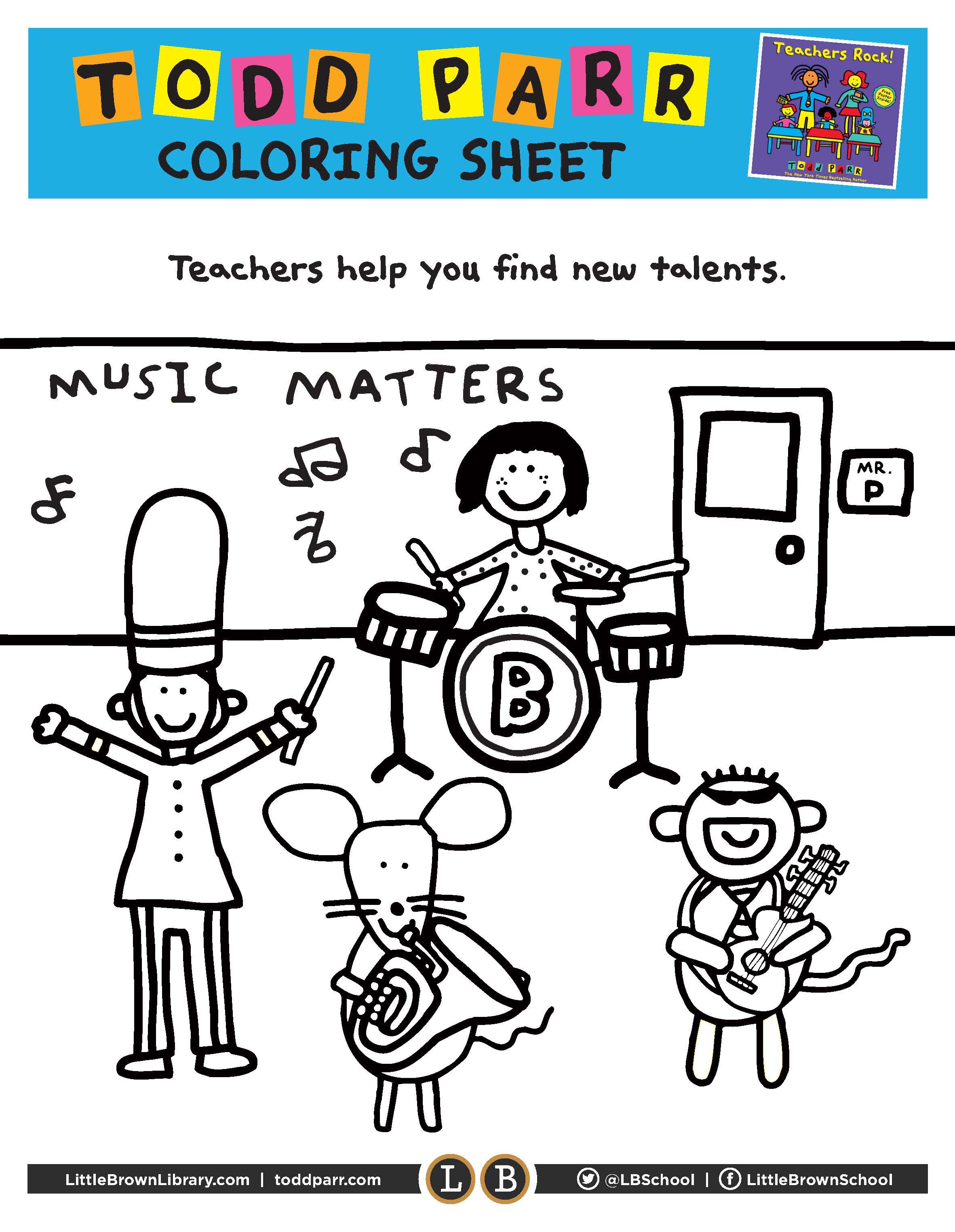 Teachers Rock Coloring Pages