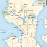 Travel map of Seattle, Washington