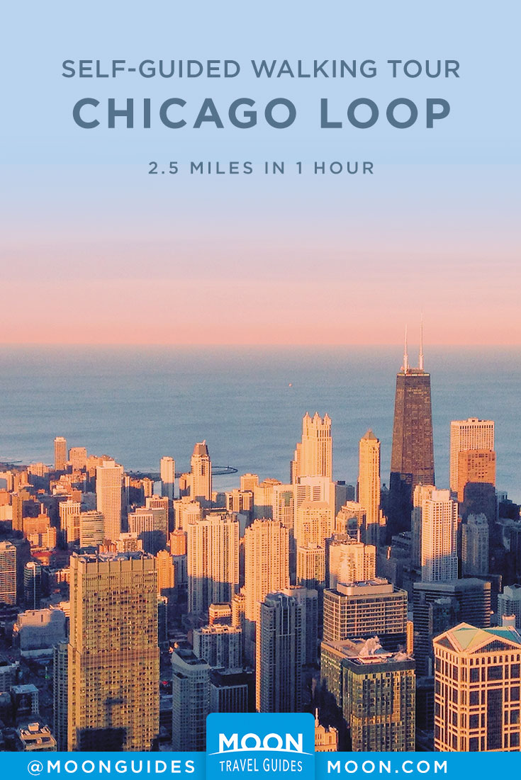 Chicago Loop Walk Pinterest graphic