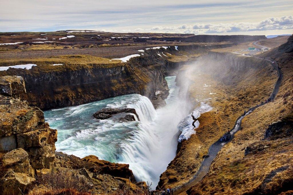 Gullfoss Falls in winter