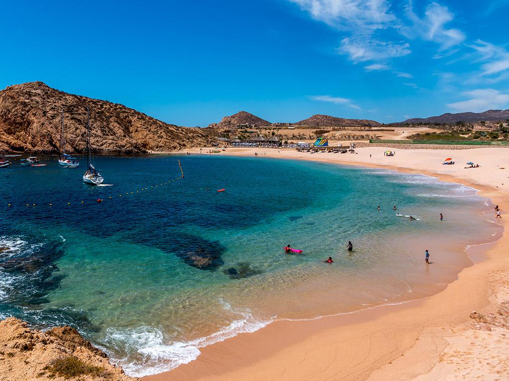 Santa Maria beach in Los Cabos Mexico
