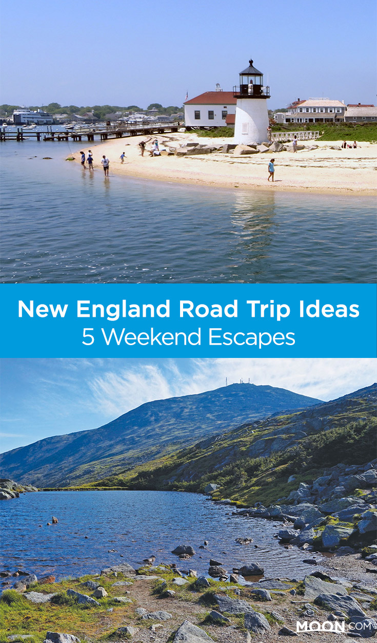 New England Weekend Trips Pinterest graphic