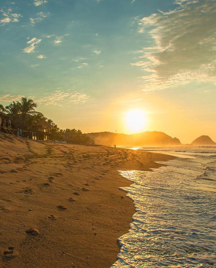 oaxacan coast at sunrise