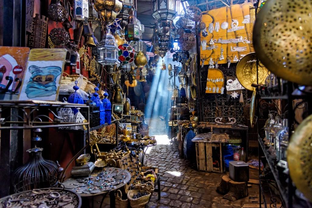 Narrow passage in Marrakesh