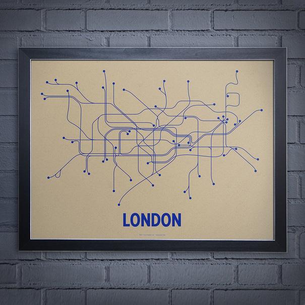 modern london underground poster