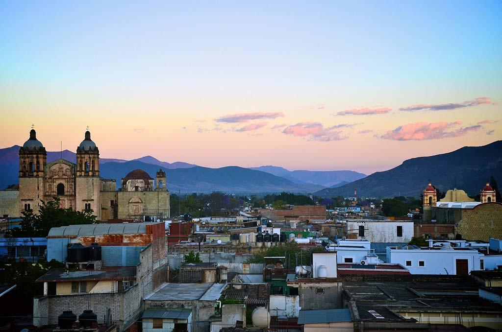 oaxaca skyline at sunset