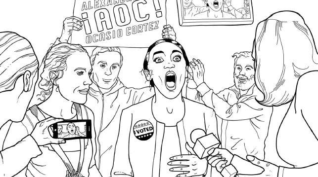 Alexandria Ocasio-Cortez Coloring Book Sample PDF