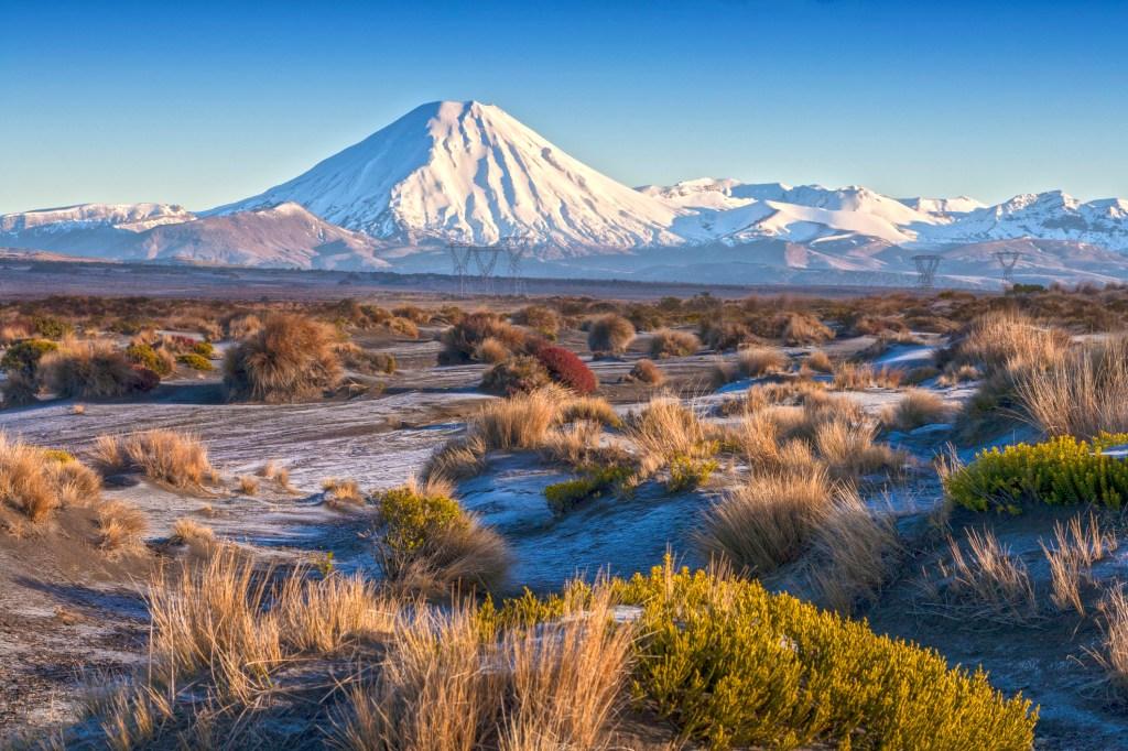 the landscape of mount ngauruhoe