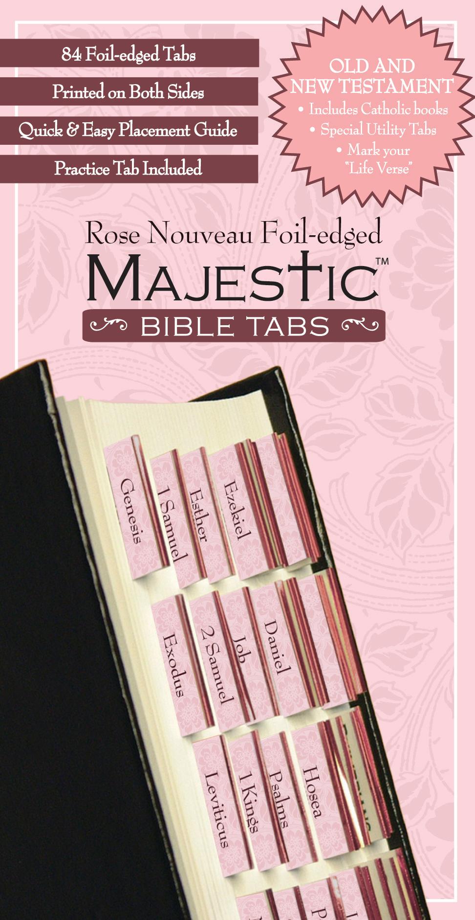 Rose Nouveau Foil Edged Bible Tabs
