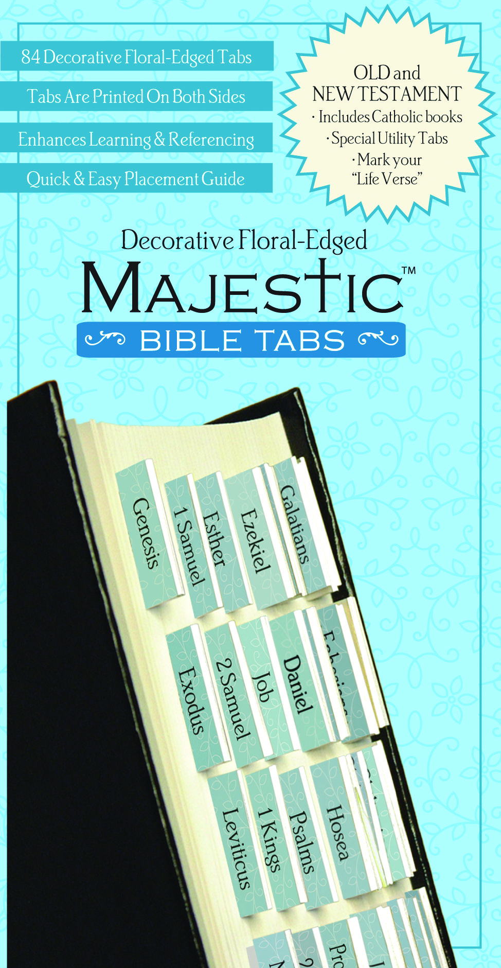 Decorative Floral Edged Bible Tabs