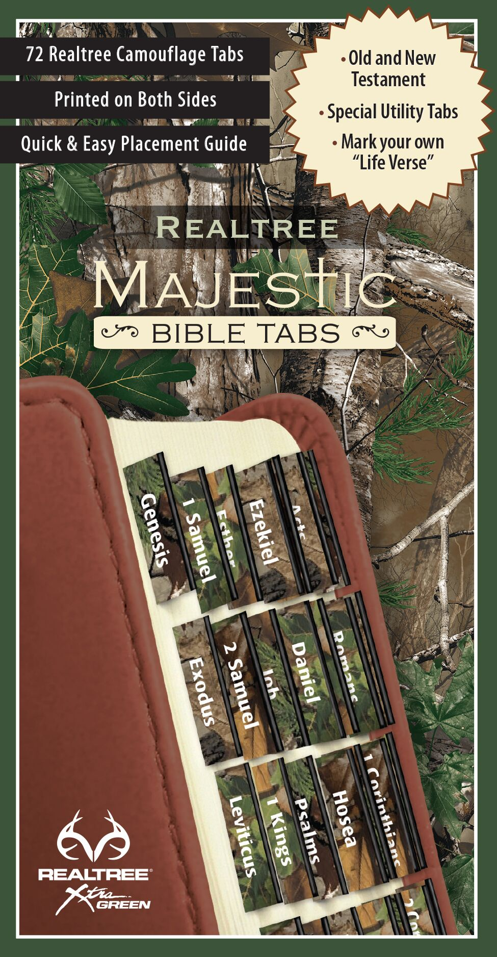 Green Camo Majestic Bible Tabs