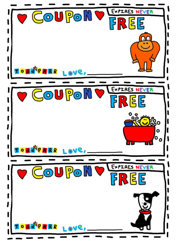 Todd Parr Thank You Coupons