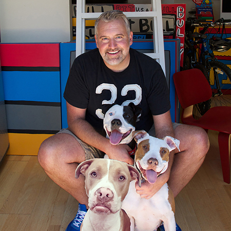 Todd Parr and his dogs!