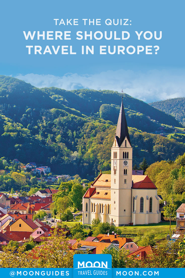where should you travel in europe quiz pinterest graphic