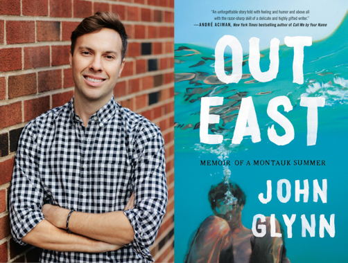 John Glynn Author Photo & Out East Book Cover