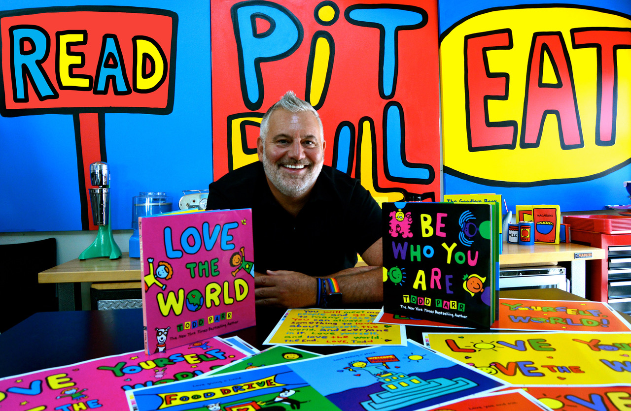 Todd Parr Promotional Image - Todd with books
