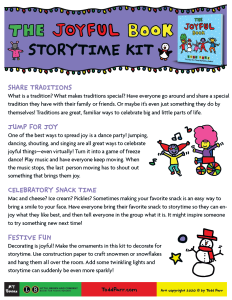 Screenshot of Todd Parr activity guide for The Joyful Book