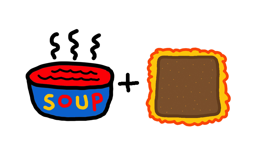 Illustration of Tomato Soup and Grilled Cheese