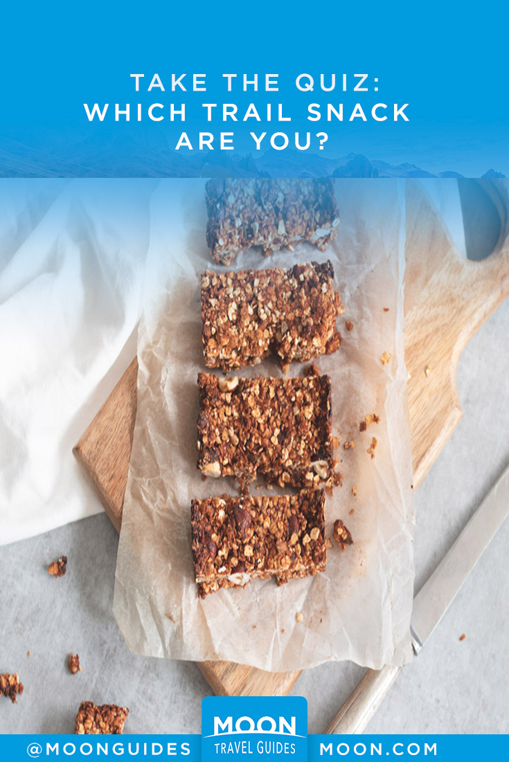 Pinterest Graphic that reads: Take the Quiz: Which Trail Snack Are You?