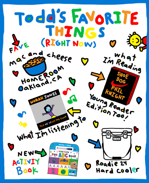 Illustration of Todd Parr's favorite things