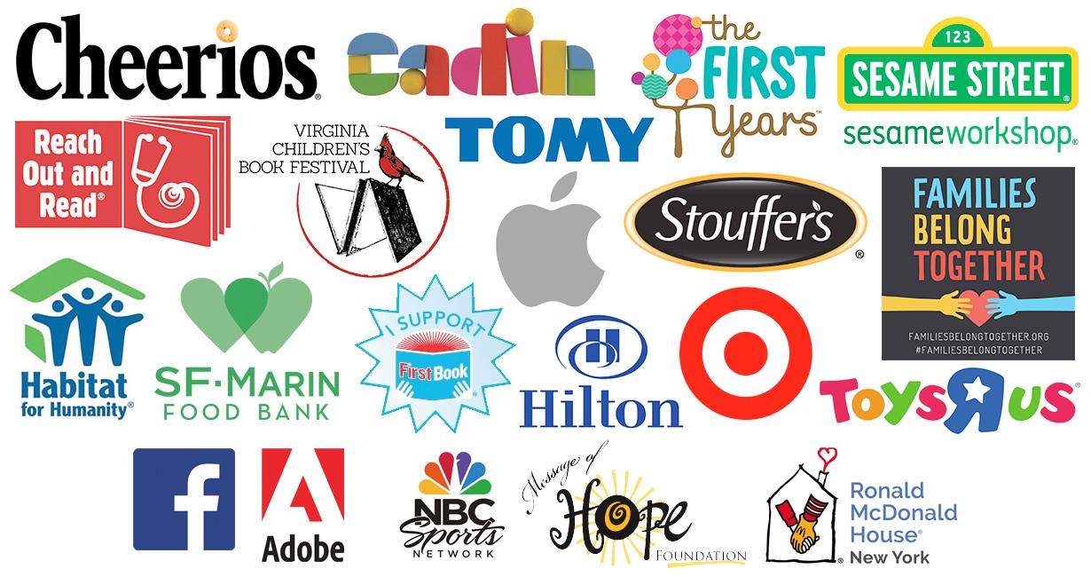 Todd Parr partnership logos