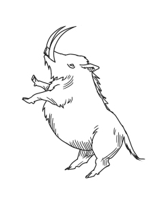 Lame of Thrones Illustration of Creature named Boaratheon