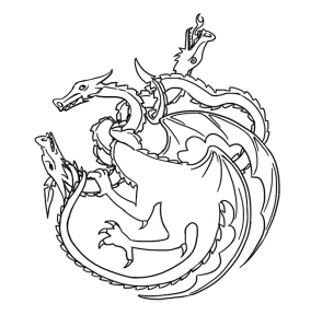 Lame of Thrones Illustration of Dragons