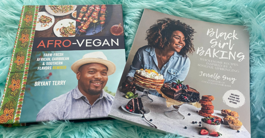 Black Girl Baking by Jerrelle Guy and Afro-Vegan by Bryant Terry.
